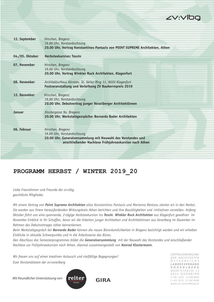 Programm Herbst 2019