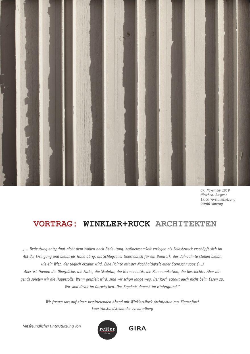 Vortrag Winkler+Ruck